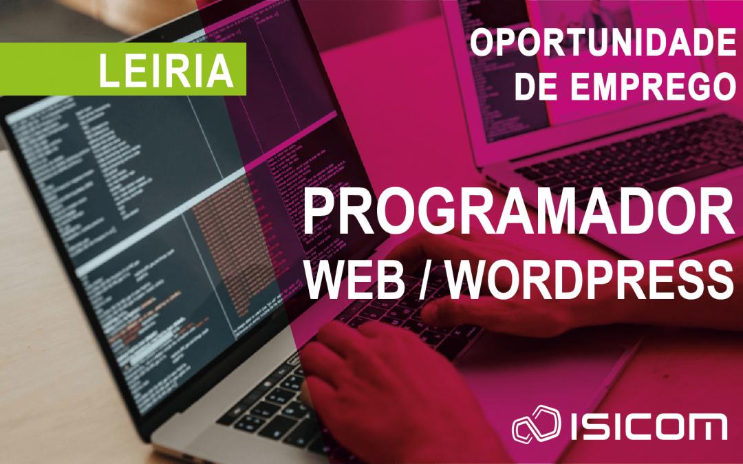 Recrutamento: Programador Web / WordPress – Leiria
