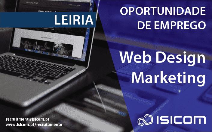 Recrutamento: Web Designer / Marketeer Digital