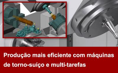 Produção mais eficiente com máquinas de Torno-Suíço e Multitarefa